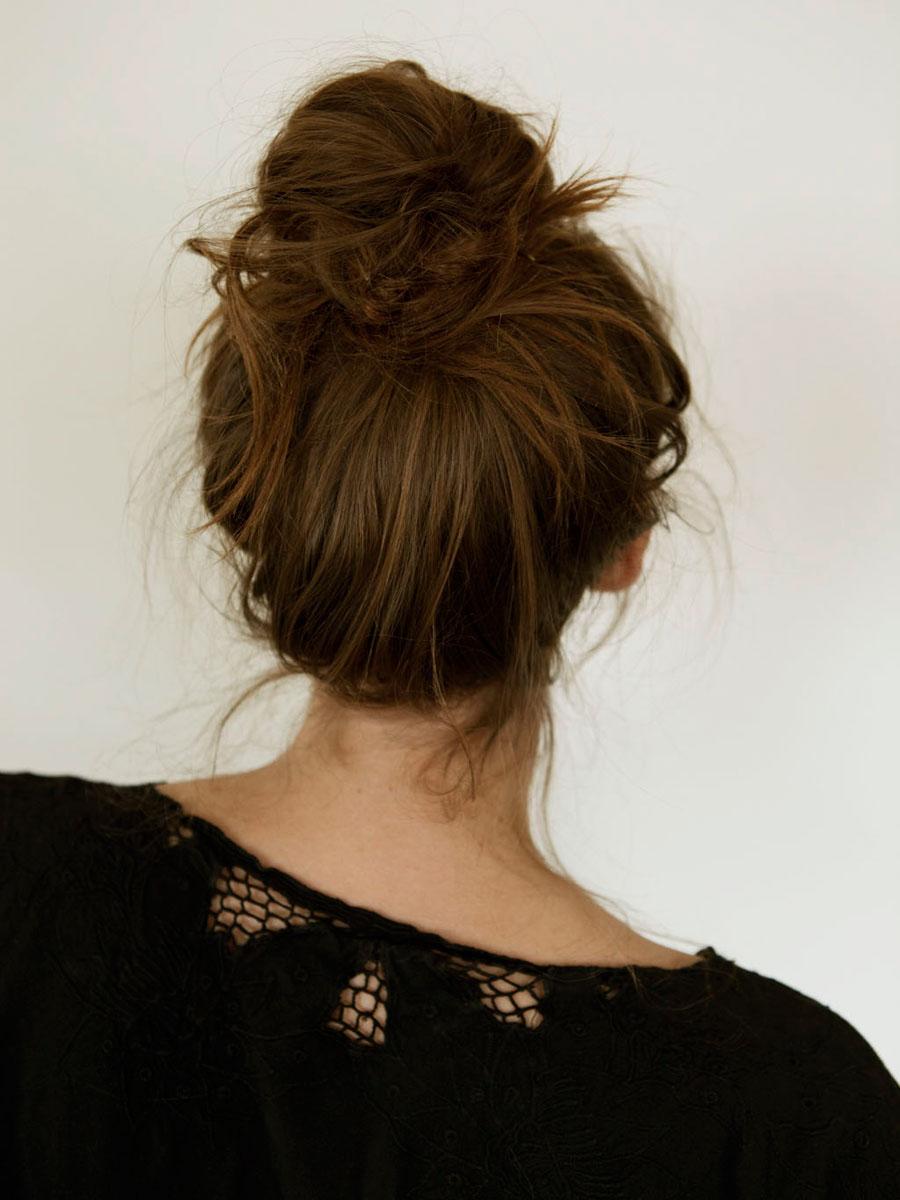 Пучок для жидких волос