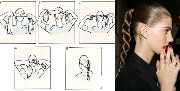 Прическа с косой жгут