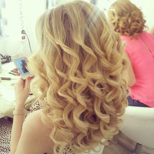 Прически локоны на средние волосы