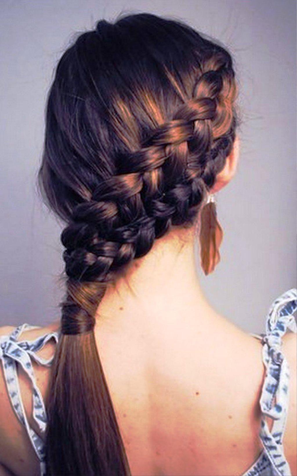 Прическа с косой французская коса