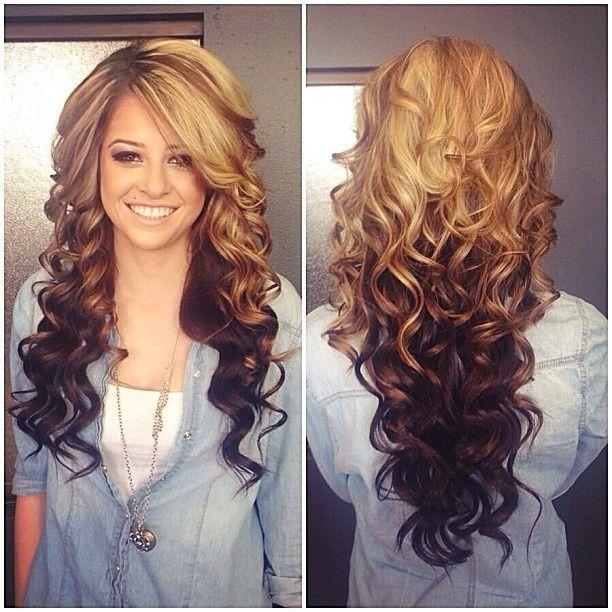 Причёски на длинные кудрявые волосы