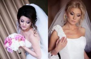 Свадебные прически с фатой 3