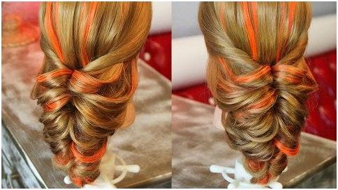 Укладка волос с помощью резинок