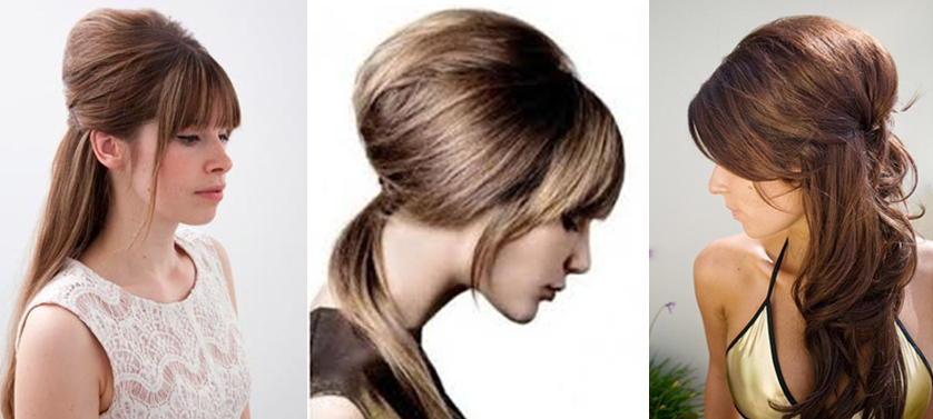 Прически с начесом на средние волосы фото