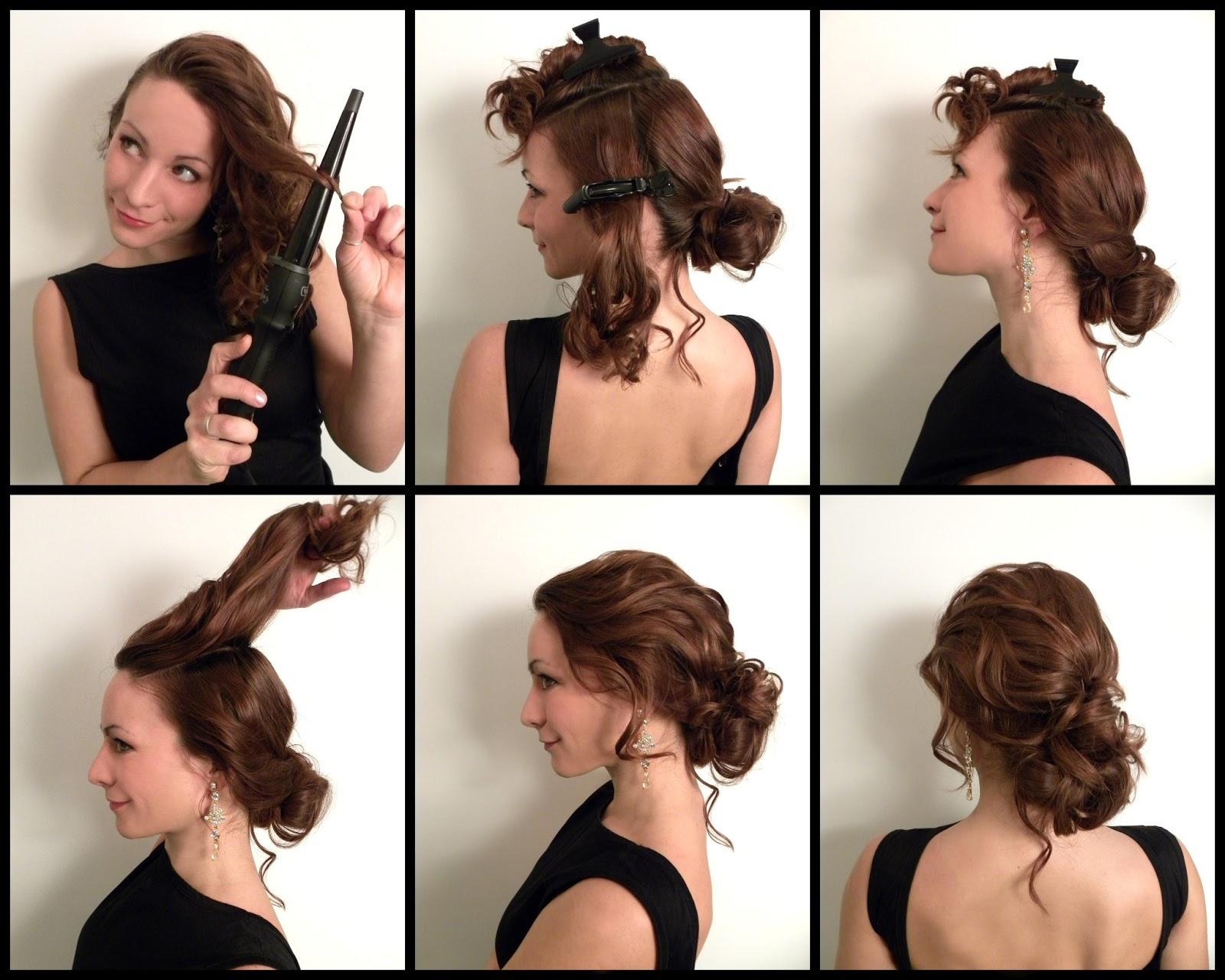 Прическа на средние волосы быстро и красиво