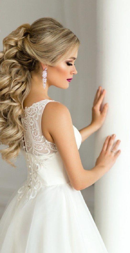 свадебные прически с хвостом