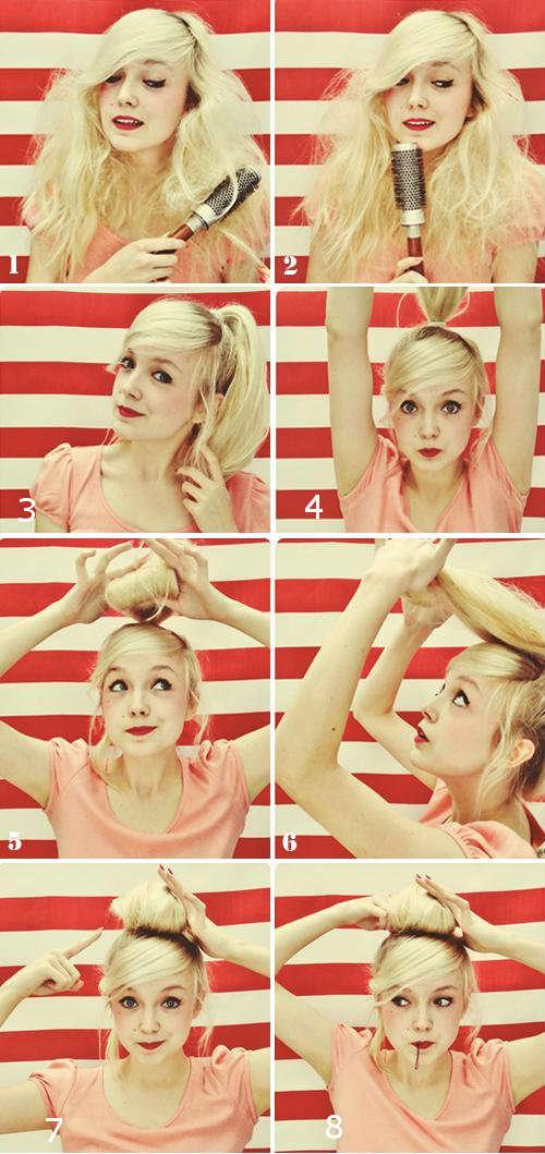 Прически на средние волосы фото уроки 1