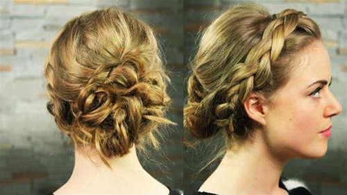 Прически на средние волосы 14