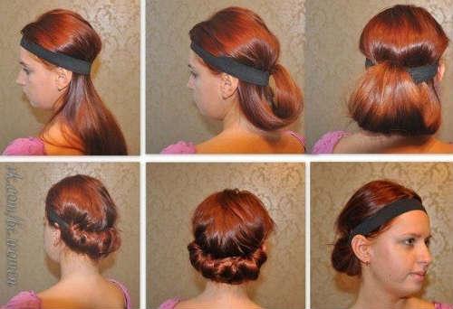 прически насредние волосы 3