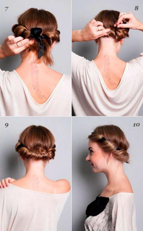 прически на средние волосы 1