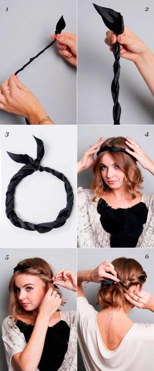 прически на средние волосы 2
