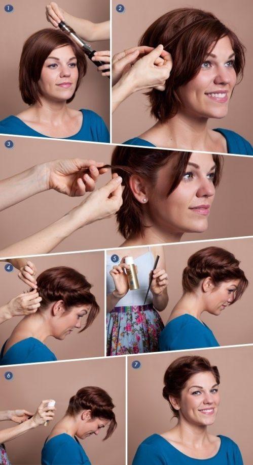 Прически на короткие волосы 2