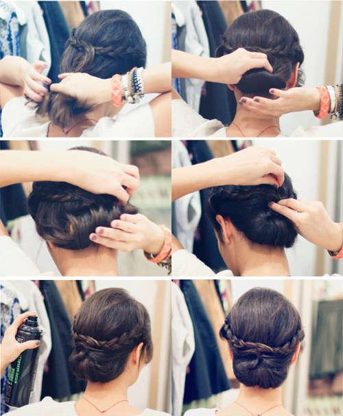 Прически на средние волосы фото 12