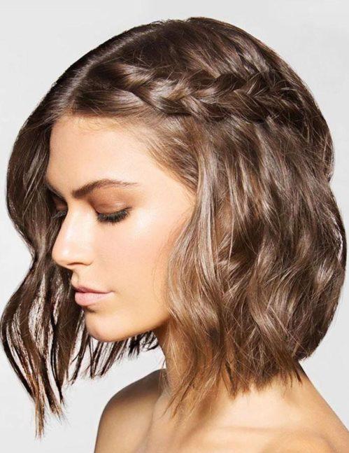Прически на короткие волосы 4