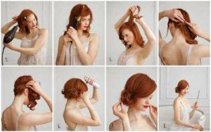 Прически на средние волосы фото уроки 8