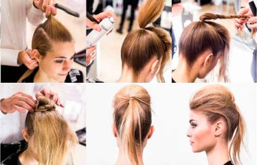 Прически на средние волосы фото уроки 4